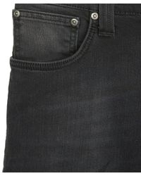 Nudie Jeans - Gray Dark Grey Thin Finn Black Brutus L30 for Men - Lyst