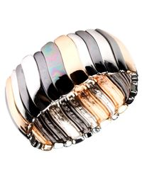 Nine West | Metallic Tri Tone Stretch Bracelet | Lyst
