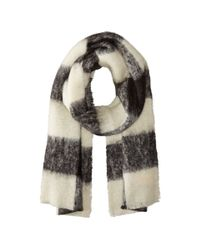 Scotch & Soda | Black Brushed Multicolor Scarf | Lyst