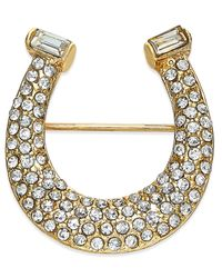 Charter Club | Metallic Gold-tone Pave Horseshoe Pin, Only At Macy's | Lyst