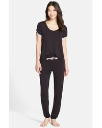 Betsey Johnson | Black Knit Pajamas | Lyst