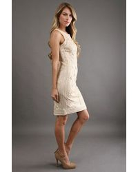 Sue Wong | Natural S Sleeveless Dress In Beige | Lyst