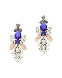 J.Crew - Blue Crystal Symmetry Earrings - Lyst