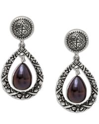 Stephen Dweck | Purple Pearl Engraved Drop Earrings | Lyst