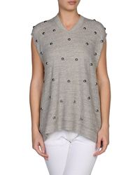 3.1 Phillip Lim - Gray Sleeveless Sweater - Lyst
