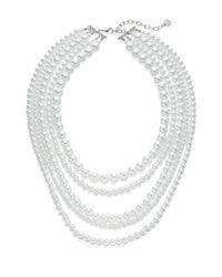 R.j. Graziano - White All In One Multi-row Necklace - Lyst