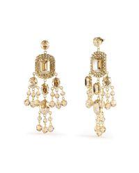 Ralph Lauren - Metallic Swarovski Chandelier Earrings - Lyst