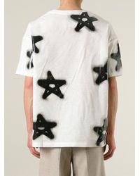 Acne Studios | Black 'eddy' Graffiti Star Print T-shirt | Lyst