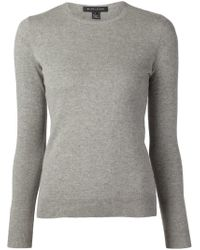 Ralph Lauren Black Label - Gray Crew Neck Sweater - Lyst
