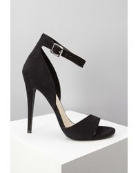 Forever 21 - Black Faux Suede Ankle Strap Sandals You've Been Added To The Waitlist - Lyst