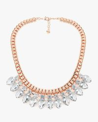 Ted Baker | Multicolor Teardrop Crystal Necklace | Lyst