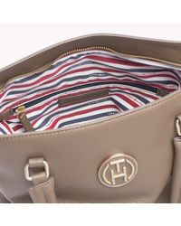 Tommy Hilfiger | Natural Pebbled Leather Tote | Lyst