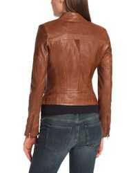 BOSS Orange | Brown Leather Jacket 'janassila1' In Sheepskin | Lyst