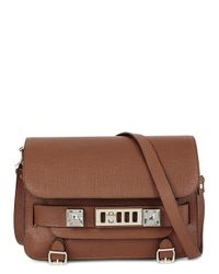 Proenza Schouler - Ps11 Large Brown Leather Shoulder Bag - Lyst