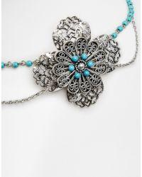 ASOS | Blue Oversize Filigree Hair Chain | Lyst