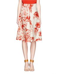 Stella McCartney | Floralprint Gathered Skirt | Lyst