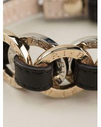 BVLGARI - Black Chain Detail Bracelet - Lyst