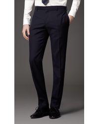 Burberry | Blue Classic Fit Virgin Wool Suit for Men | Lyst