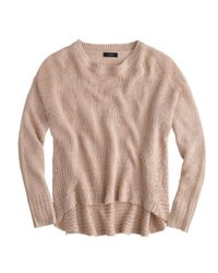 J.Crew | Natural Textured Beach Sweater | Lyst