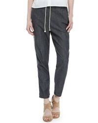 Eileen Fisher - Black Denim Slouchy Pants - Lyst