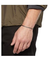Yuvi - Metallic Silver Mesh and Cord Bracelet for Men - Lyst