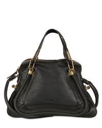 Chloé - Black Medium Paraty Grained Leather Top Handle - Lyst