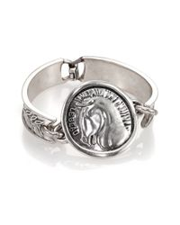 Giles & Brother | Metallic Horse Head Coin Cuff Bracelet | Lyst