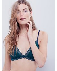Free People - Green K.i.s.s Soft Bra - Lyst