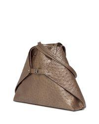 Akris - Metallic Ai Medium Ostrich Tote Bag - Lyst