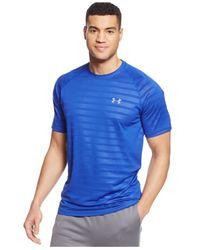 Under Armour   Blue Heatgear® Tech Short Sleeve Patterned T-shirt for Men   Lyst