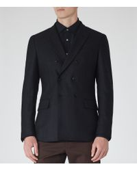 Reiss - Blue East Double-breasted Blazer for Men - Lyst