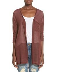 Lush | Brown Button Front Knit Tunic | Lyst