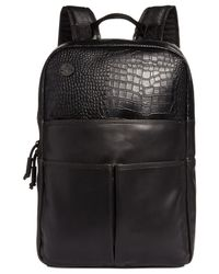 Focused Space | Black The Veneer Faux Leather Backpack for Men | Lyst