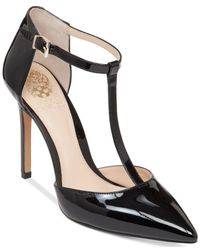 Vince Camuto   Black Nihal T-strap Sandals   Lyst