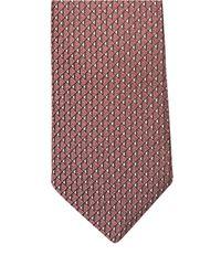 Lanvin - Pink Jacquard Triangle Silk Tie for Men - Lyst