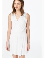 Mango - Natural Textured Dress - Lyst