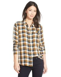 Lucky Brand | Brown 'bungalow' Plaid Button Back Shirt | Lyst