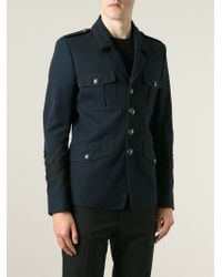 Diesel Black Gold | Blue 'Jonis' Military Jacket for Men | Lyst