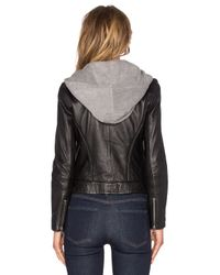 Doma Leather - Black Hooded Leather Jacket - Lyst
