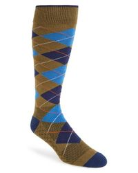 Challengerxusa | Green 'heritage' Argyle Socks for Men | Lyst
