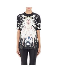 Givenchy | Black Baby's Breath & Madonna T-shirt | Lyst