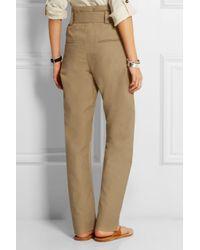 Isabel Marant - Natural Owel Cotton And Linen-Blend Wide-Leg Pants - Lyst