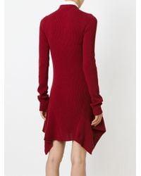 Stella McCartney - Red Asymmetric Dress - Lyst