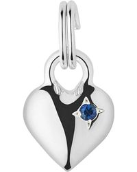 Links of London | Metallic Mini Heart Sterling Silver And Blue Sapphire Charm | Lyst