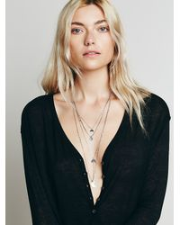 Free People | Metallic Womens Waterfalls Necklace | Lyst