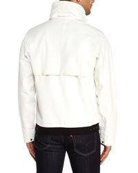 Stone Island | White Stand Collar Jacket for Men | Lyst
