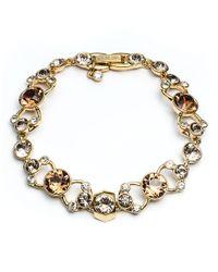Givenchy - Metallic Crystal Pave Bracelet - Lyst