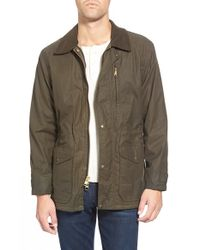 Filson | Green 'cover Cloth Mile Marker' Waxed Cotton Coat for Men | Lyst