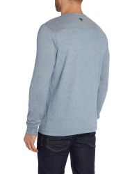 Duck and Cover | Blue Blink Long Sleeve Crew Neck T-shirt for Men | Lyst