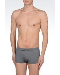 Emporio Armani - Gray Swimsuit for Men - Lyst